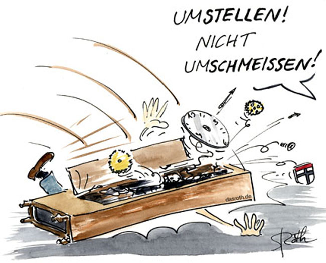 Cartoon/Karikatur zur Zeitumstellung
