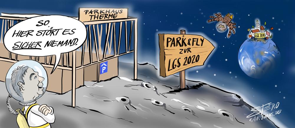 Parkhaus auf dem Mond