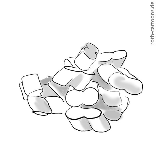 Illsutration Styroporflocken