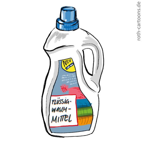 illustration leere waschmittelflasche
