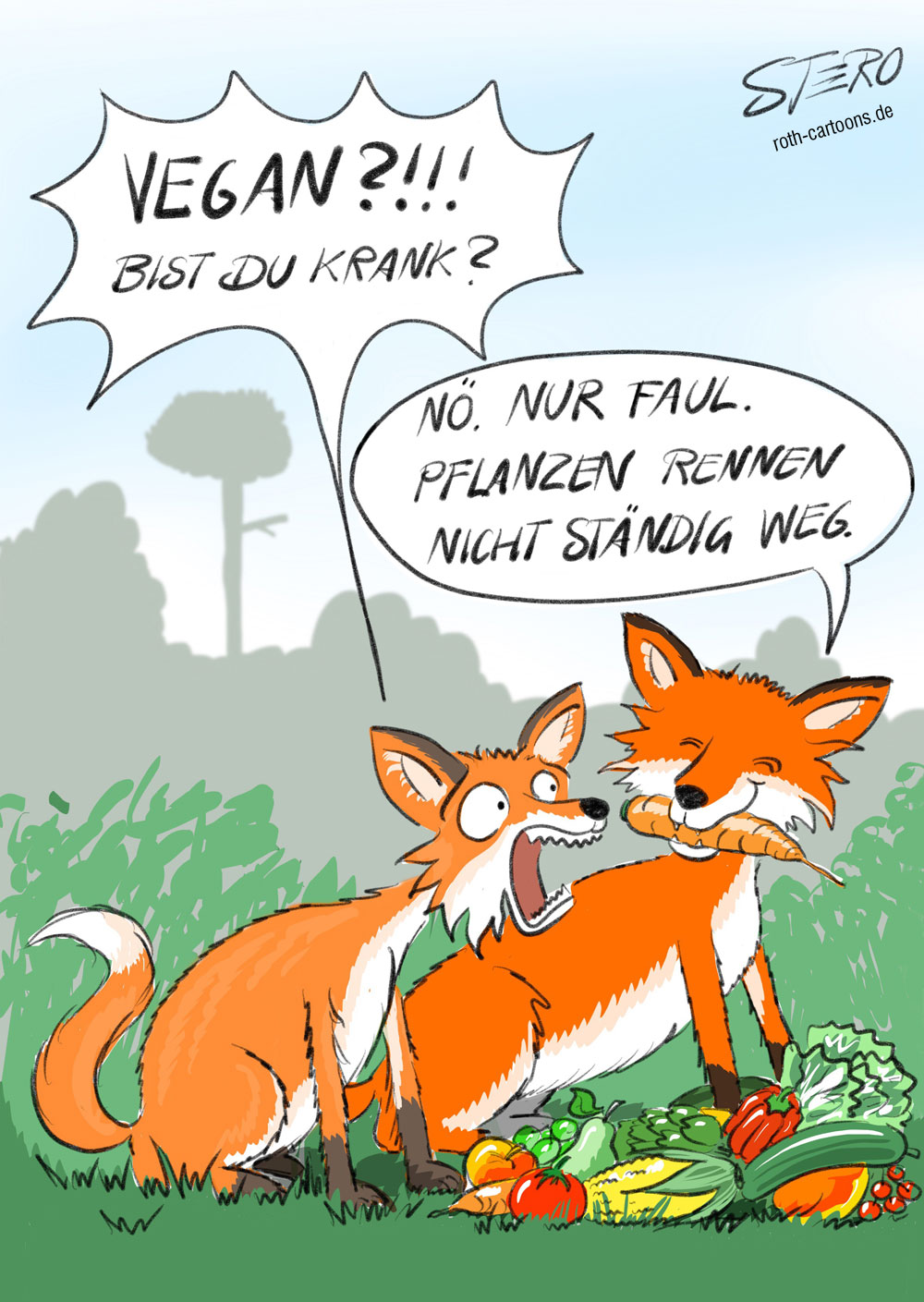 Cartoon-Karikatur-Comic