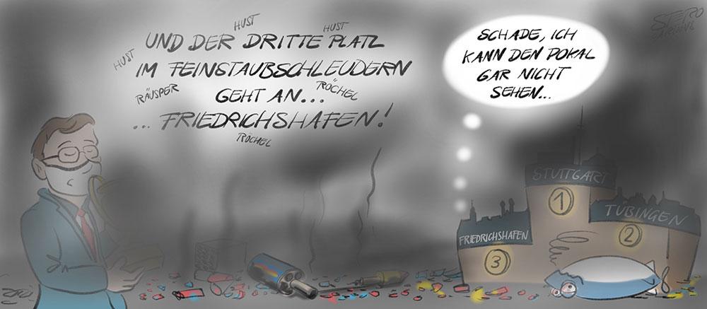 cartoonkarikaturcartoon comic feinstaubalarm an