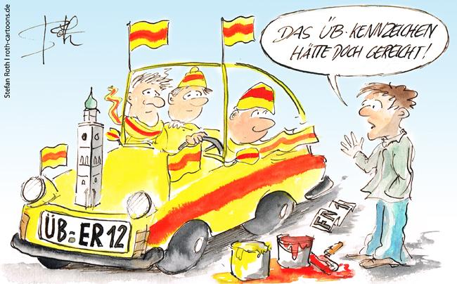 Cartoon-Karikatur-alte-kfz-kennzeichen