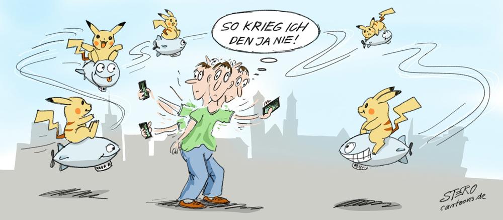 Cartoon-Karikatur-comic-pokemon-go-friedrichshafen