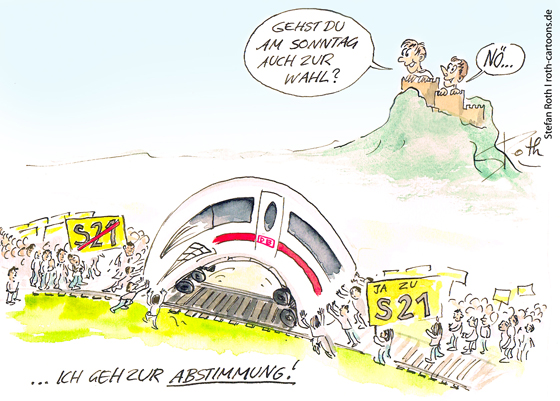 Cartoon-Stuttgart21