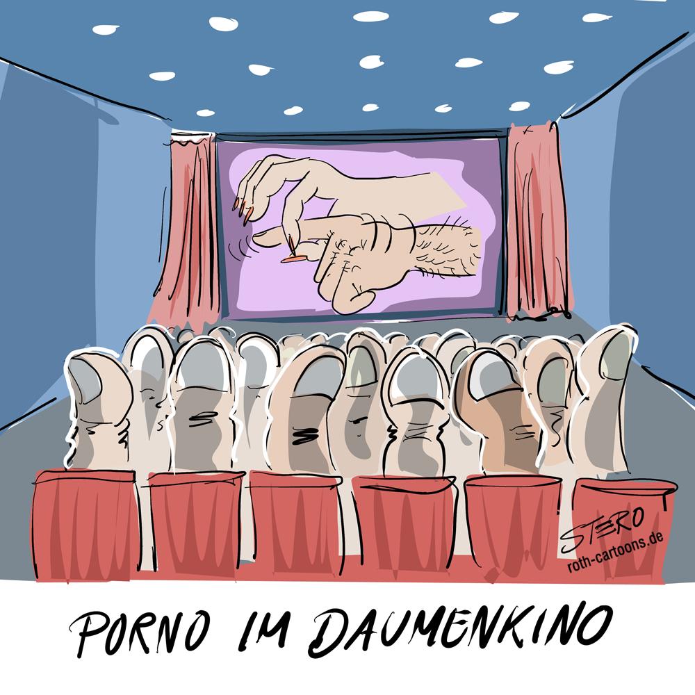 Cartoon-Pornofilm im Daumenkino