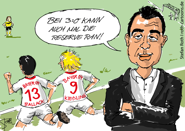 Robind utt und Michael Ballack, Bayer 04 Leverkusen