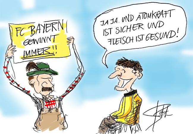 Fc Bayern Bvb Dortmund Cartoons Comic Karikaturen