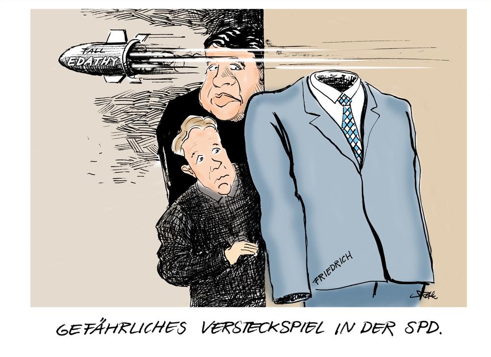 GAbriel und Oppermann verstecken sich hinter dem zurrückgetretenen Hans-Peter Friedrich