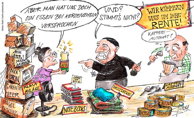 Kaffeefahrt-Cartoon