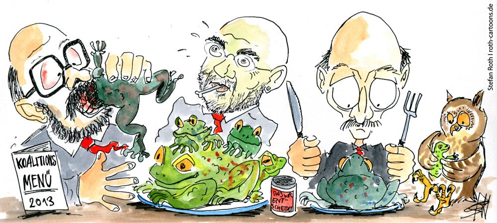 SPD beim Kröten schlucken
