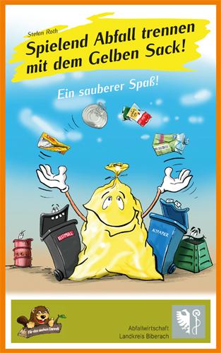 """Cover des Lernspiels """"Spielend Abfall trennen mit dem Gelben Sack"""" von Stefan Roth"""