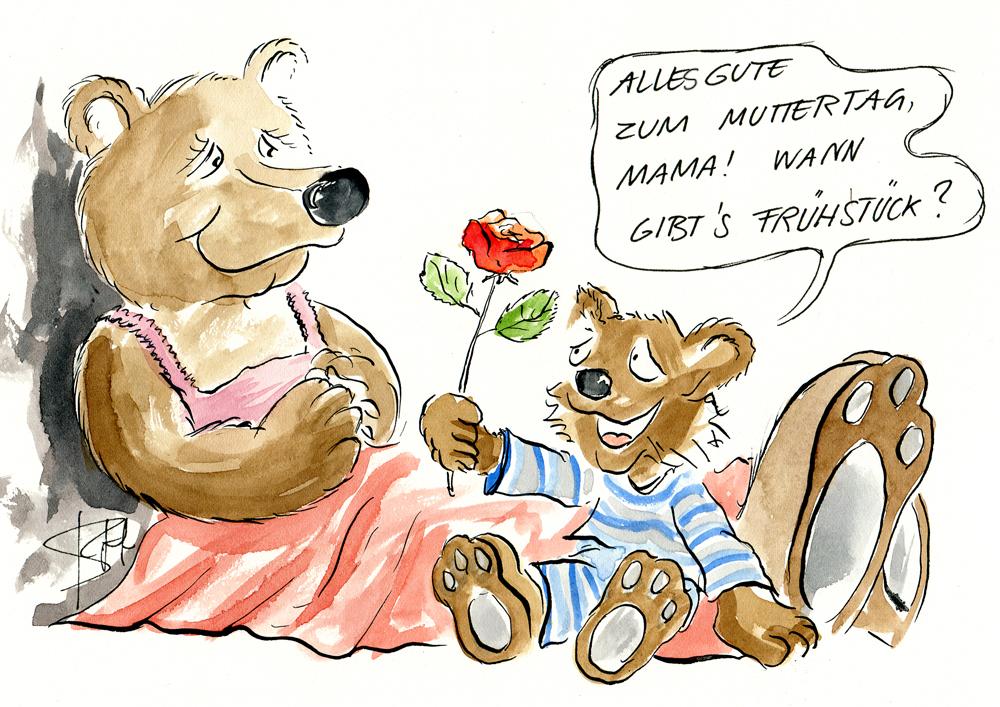 Cartoon Comic zu Muttertag