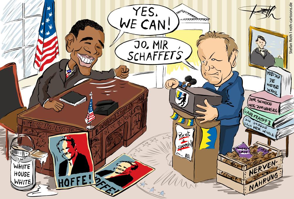 OB Oliver Ehret im Oval Office im Weißen Haus