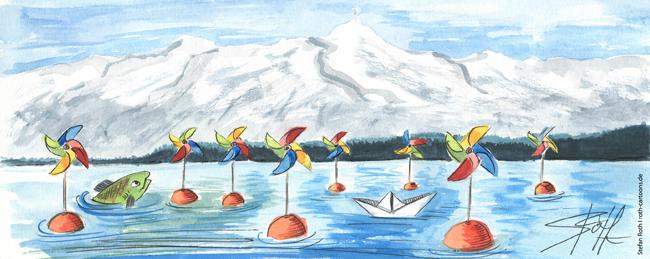 Illustration Windkraftanlage