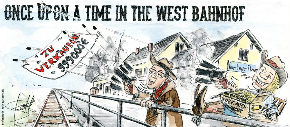 Karikatur OB Becker und BM Brettin