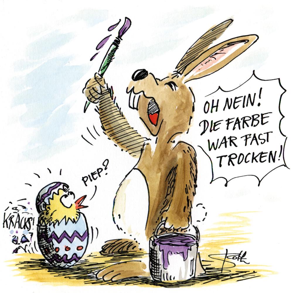 Osterhase mal Eier an
