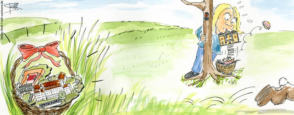 In Überlingen liegen die Schlösser wie Eier in den Osternestern.
