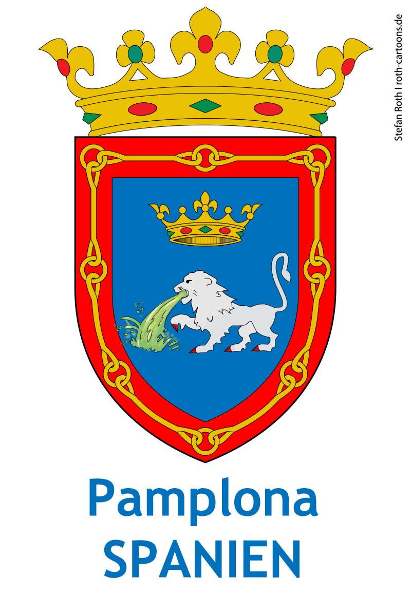 Stierhatz in Pamplona-Spanien/ encierros España