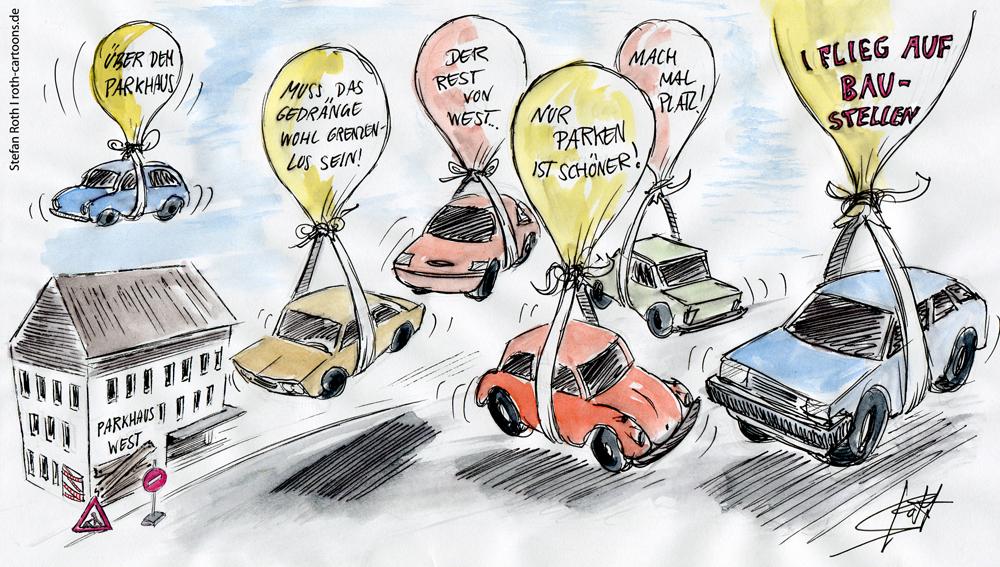 Autos an Ballons