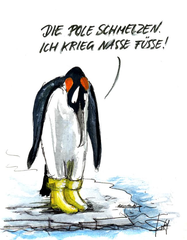 Pinguin in Gummistiefel