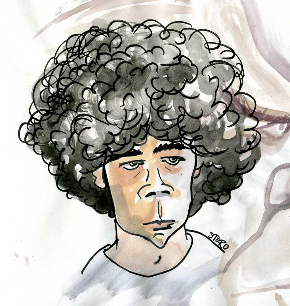 Portraitkarikatur-Junge