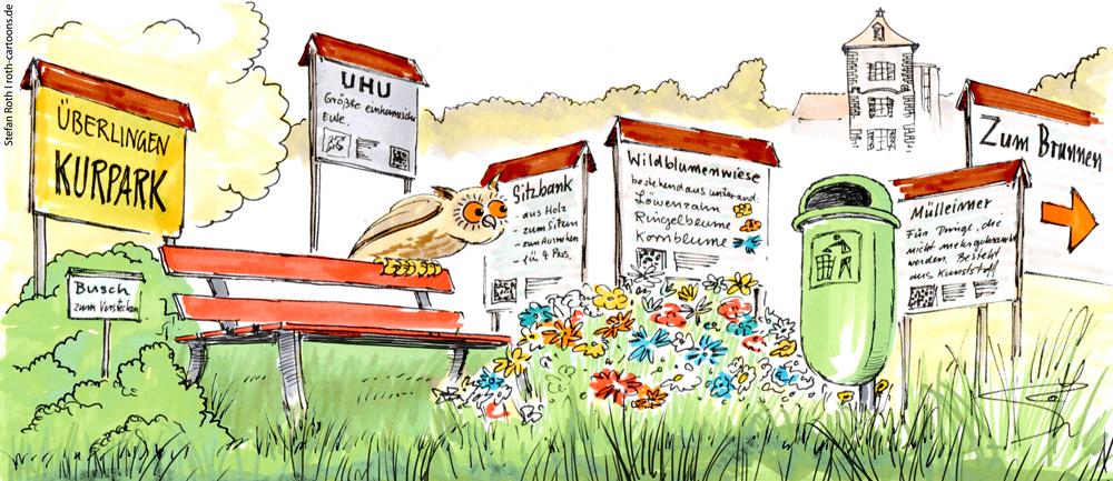 Karikatur Schilderwald Überlingen