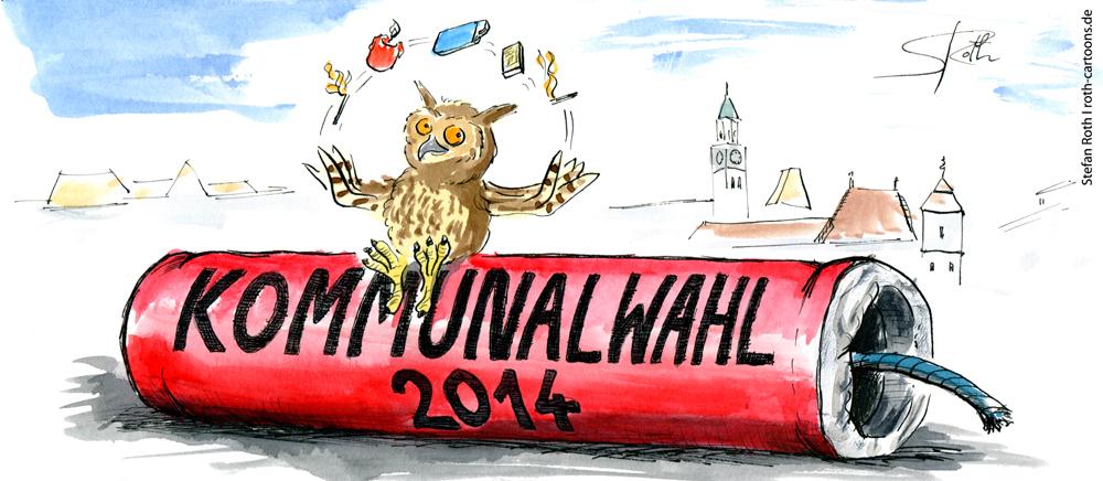 Der Kanller des kommenden Jahres: die Kommunalwahl ...