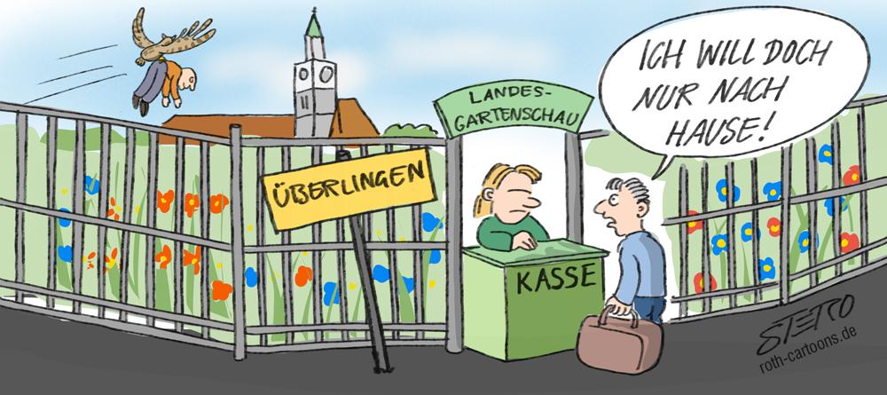Cartoon zur Landesgartenschau 2020