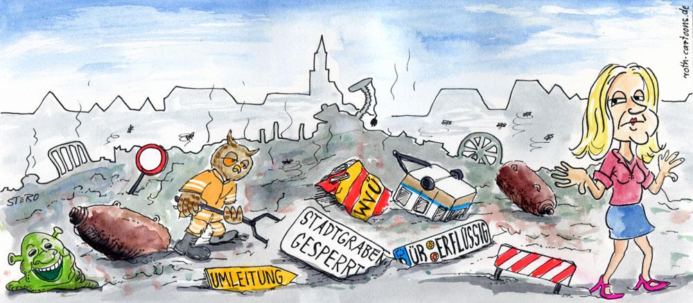 cartoon-karikatur-cartoon comic sperrmüll - roth-cartoons (de)