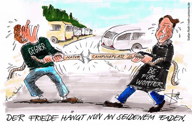 Gegner und Befürworter des geplanten Natur-Campingplatzes in Worblingen zerren um die richtigen Argumente für und gegen das Projekt direkt neben dem Naturbad.