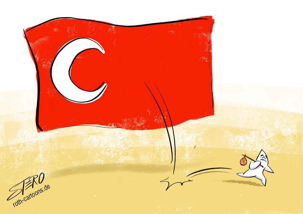 CArtoon-karikatur zum Referendum in der Türkei 2017