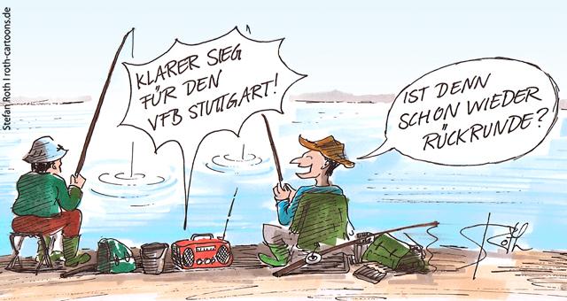 Angler am See hören Fußball-Bundesliga im Radio