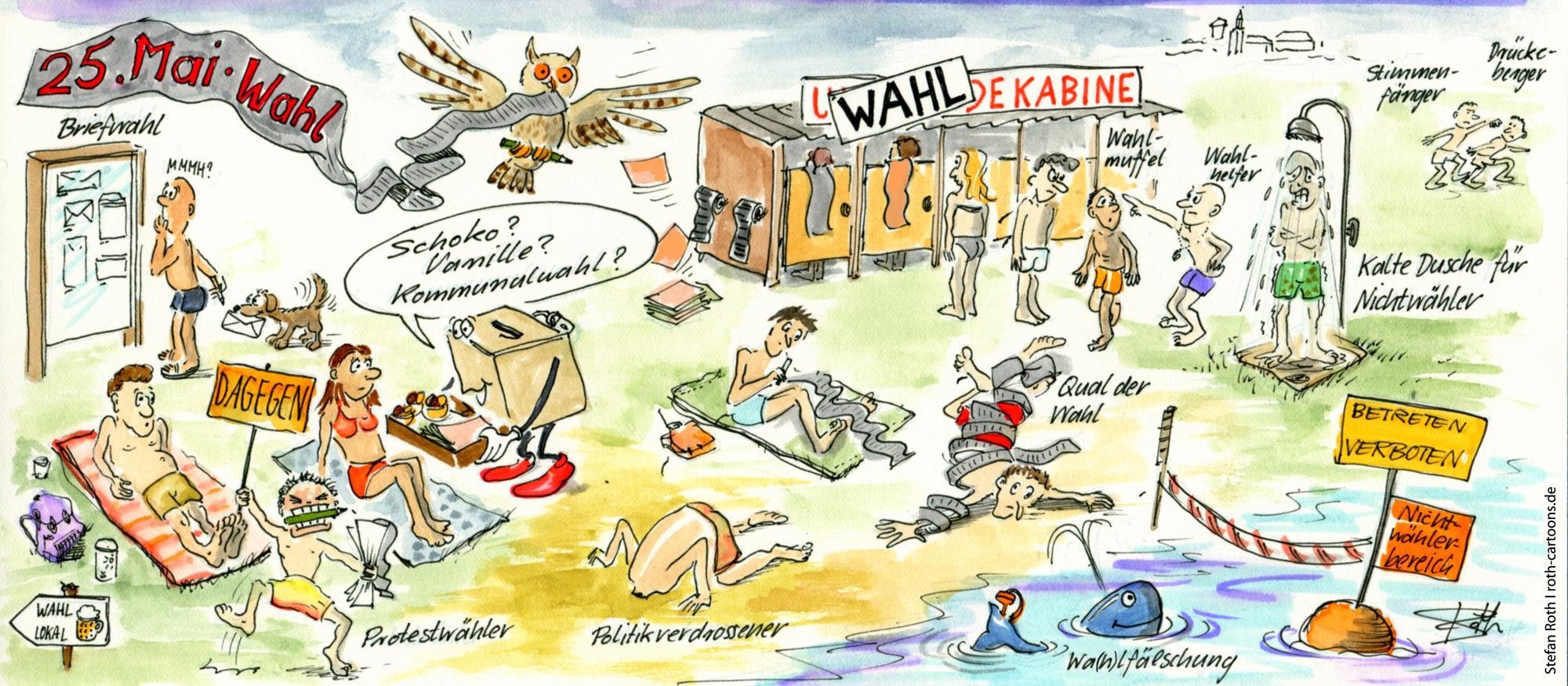 Cartoon zur Wahl