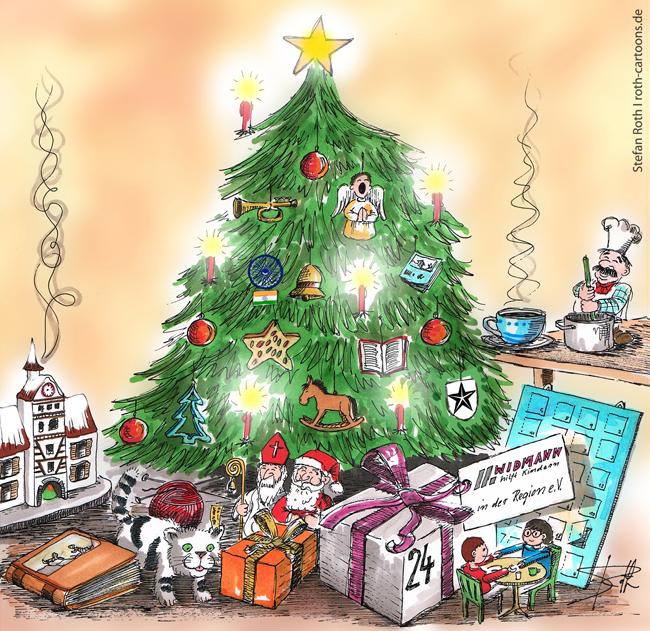 illustration Weihnachtsbaum Weihnachtszimmer