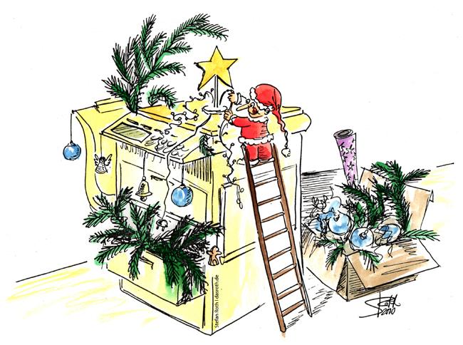Weihnachtsmann-wichtel-am-Kopierer