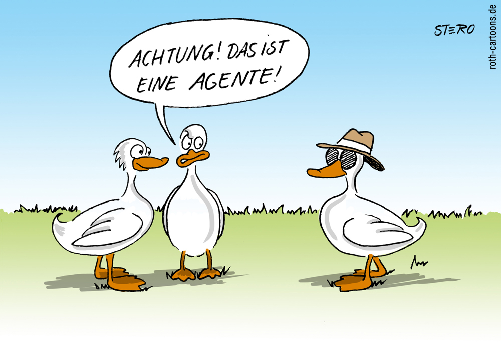 cartoon: ente
