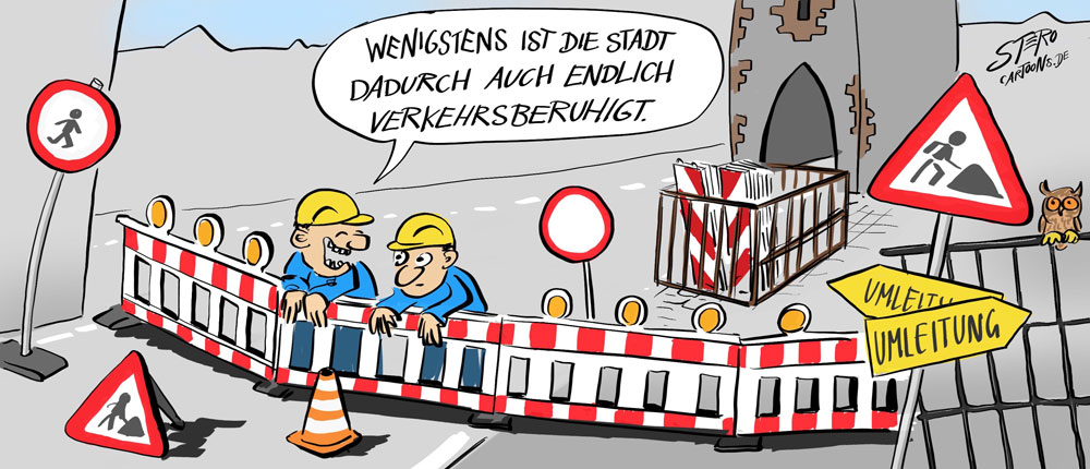 Cartoon: Baustelle