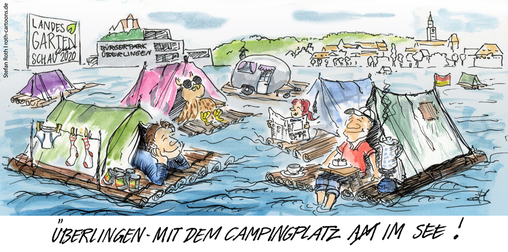 Auch eine Möglichkeite, den Campingplatz nach der Landesgartenschau 2020 in Überlingen wiederzubeleben ...