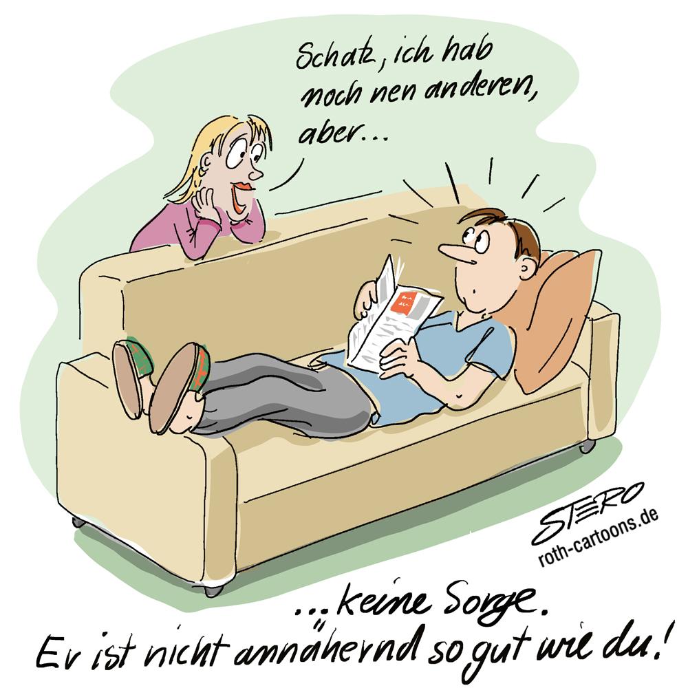 Cartoon zum Fremdgehen.