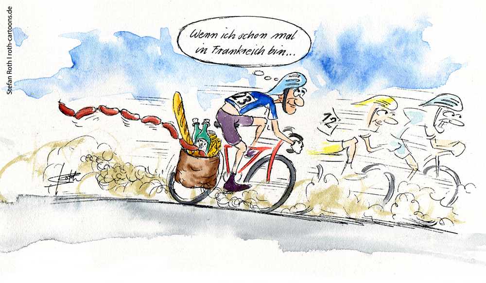 Cartoon Tour de France