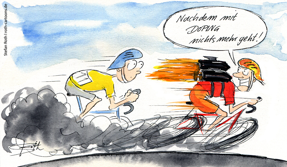 Cartoon - Tour de France - Doping