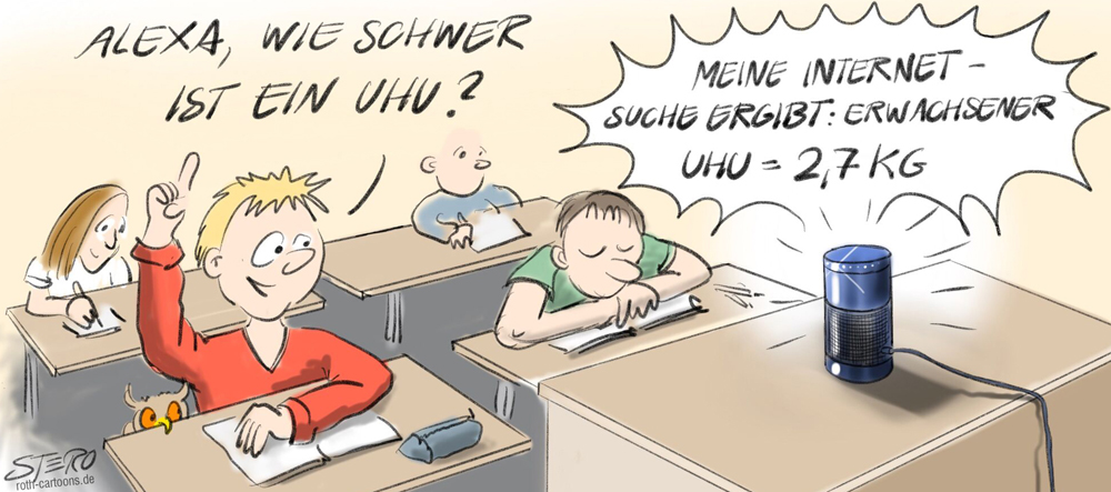 Cartoon-Karikatur-Comic Lehrermangel