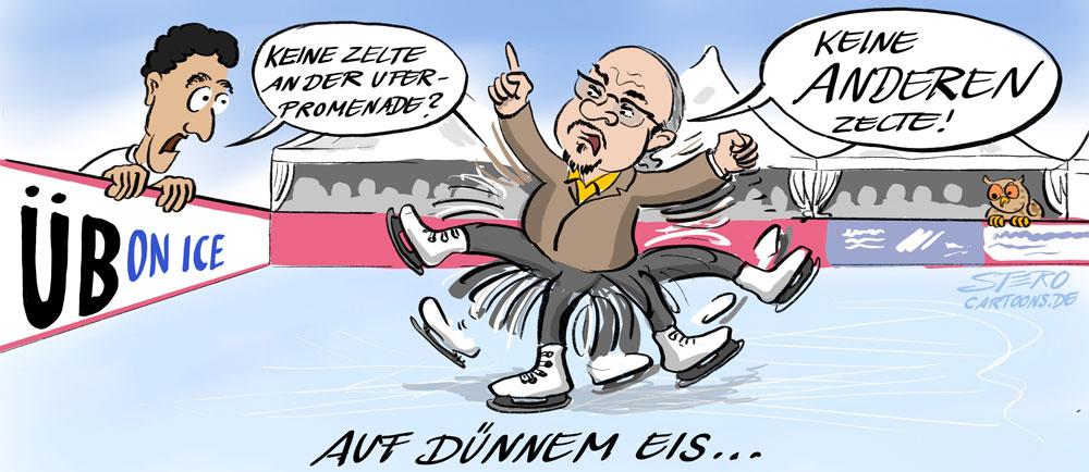 cartoon-karikatur-comic-Reinhardt WEigelt auf SChlittschuhen