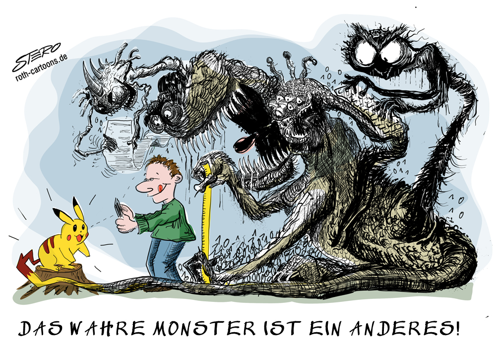 CArtoon zu Pokémon GO