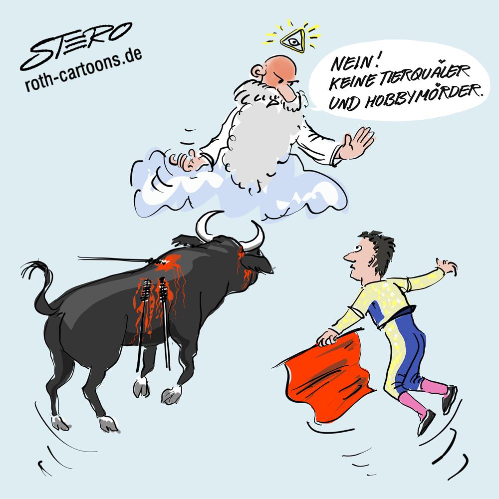 Cartoon: Torero Victor Barrio stirbt bei Stierkampf