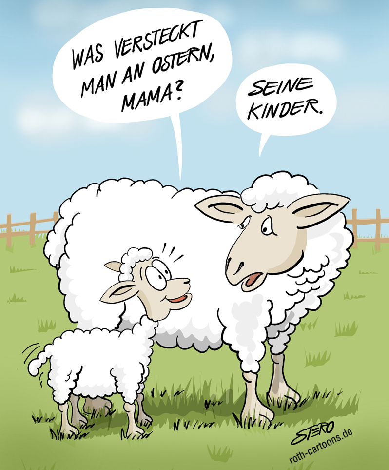 Cartoon, Comic, Karikatur zu OStern