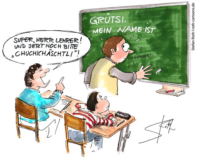 Viele deutsche Lehrer unterrichten in der Schweiz