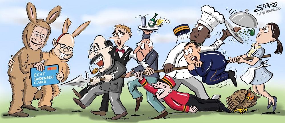Cartoon Sieben Schwaben