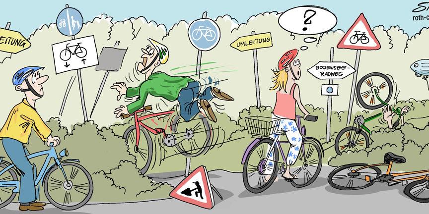 Radfahrer Comic
